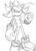 Shadow the hedgehog sketch by Rodnego3