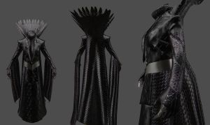 Wicked Witch  Dress for Skyrim by Zerofrust