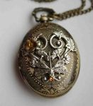 Fantasy pocket watch necklace by Pinkabsinthe