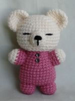 sleepy bear amigurumi by TheArtisansNook