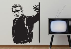 Wall Decal Steve Mcqueen Bullit Wall Decal Design by wall-decal-shop