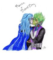Raven and Beast Boy by transformers3roxCB