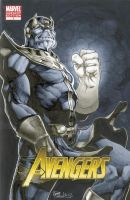 Thanos Avengers 1 Sketch Cover by RichardCox