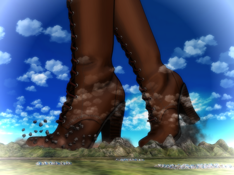 Mile-high boots by Kingklon