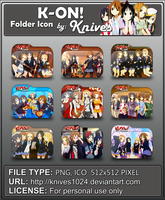 K-On! Anime Folder Icon by Knives by knives1024