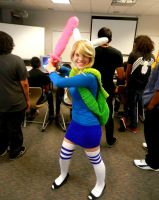 First Cosplay - Adventure Time Fionna by LilliM00