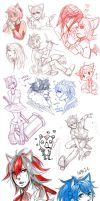 +SONIC HuMANOID DOODLES+ by C2ndy2c1d