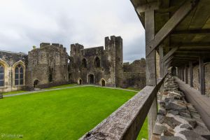 Caerphilly Castle - Inner Ward from Hoarding by CyclicalCore
