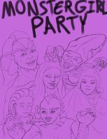 Monster Girl Party by ErnCer