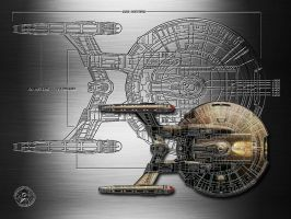 Starship Enterprise by jaidaksghost