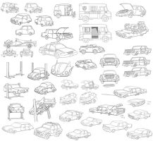 misc cartoon cars by jimmymcwicked