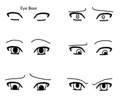 Basic Eye Expression Examples for Noobs by a Noob by ShadowDragonia