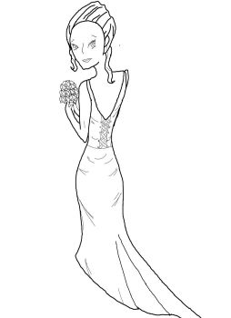 Bride to Be Line Art Lineart by xxDizzyBlondexx