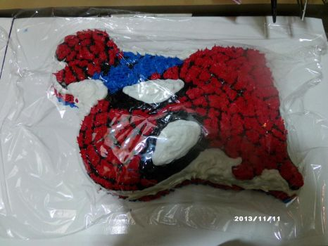 Spiderman Cake with Help by fieoria