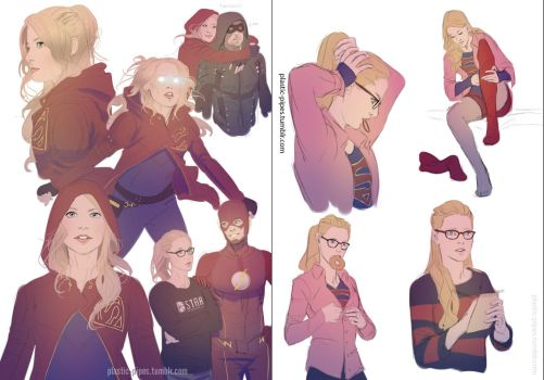 Supergirl Sketchdump by plastic-pipes