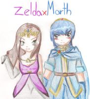 ZeldaxMarth by harusparrow14