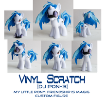 Vinyl Scratch/ Dj P0n3 MLP: FiM custom sculpt by alltheApples