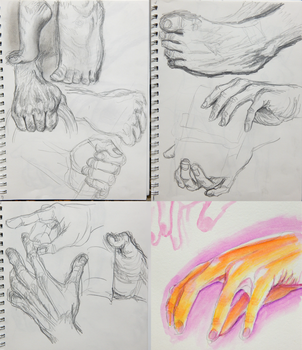 Hand Studies by RhodArt