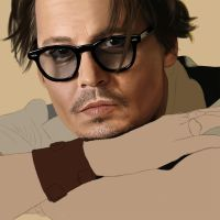 Johnny Depp Digital Painting (WIP) by 5IC