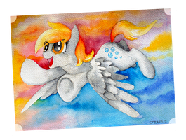 Flying in the afternoon by Black-Namer