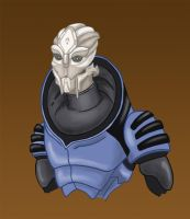 Varen, Turian Cadet by DarkspearDevil