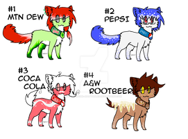 Soda-Themed Cat Adoptables 2 by Avalanche-Adoptables