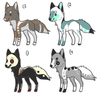 Wolf/Fox adopts 3 by sharkbaitt
