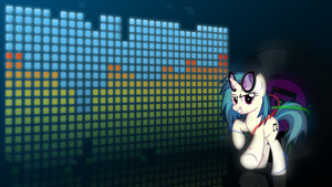 Vinyl Scratch speedart-thingy by Mithandir730