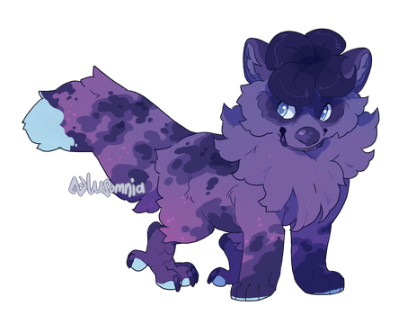 [auction|closed] Midnight Clover by Lusomnia