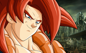Gogeta SSJ4 Wastelands by drozdoo