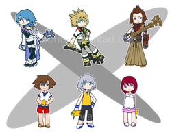 Keychains: Kingdom Hearts by tabriis
