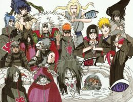 Naruto Characters by brodandconfusd