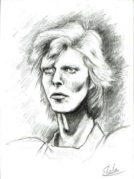 Bowie: Sketch 2 by girl-skeleton