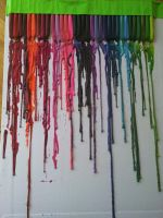 melted crayons by takenbyhope