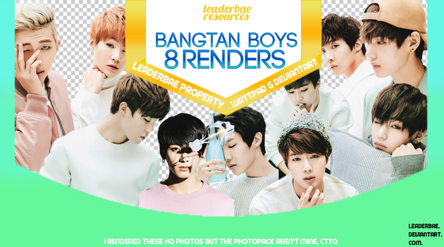 BTS PNG Pack #1 by leaderbae