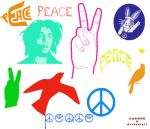Peace Brushes by kmh425