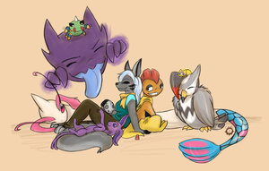 Pokemon Lazy Day by candiipup