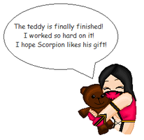 Mileena and the Teddy by iceangelmkx