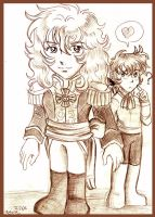 Lady Oscar and Andre Grandier by Yamatoking