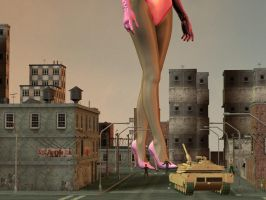 giantess leg 09 by jcwonder