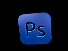 3D Photoshop Logo by SyntheticsArt