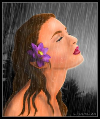 GODDESS IN THE RAIN by SCT-GRAPHICS