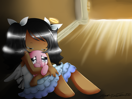 The angel and the weeping lamb by ChibiGoneWild