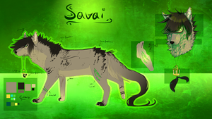[Refsheet/Point Commission] Savai by Skaede