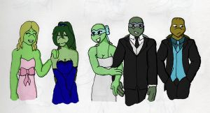 TMNTU_off to prom by DNLnamek01