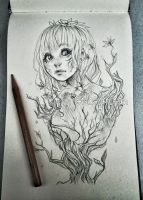 Plant girl sketch by Nasuki100