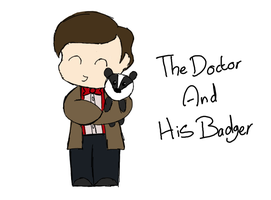 Doctor And His Badger by drawingdream