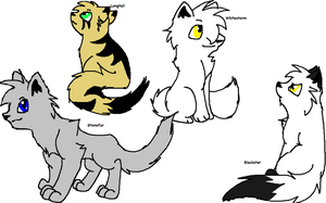My fave warrior cats by Obsidianthewolf