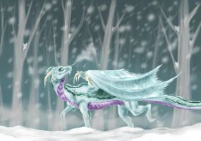 Strolling in the Snow by Caerulai