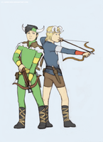 Young Thor and Loki by GoreChick